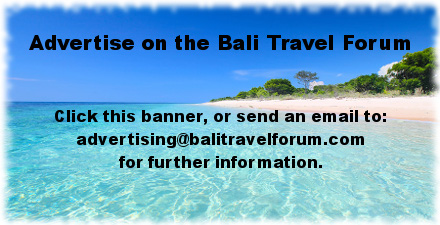 Advertising on the Bali Travel Forum